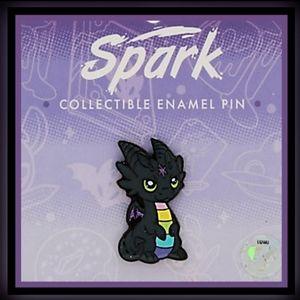 SPARK THE ARTIST DRAGON ENAMEL PIN